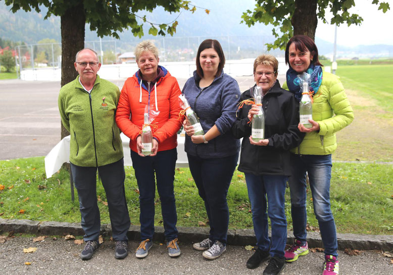 von li: Obmann Christian Zanin - Anita Niederwimmer - Lisa Linder - Dagmar Thaler - Monika Safrin