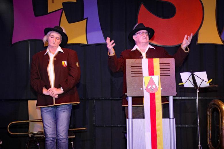 """Sandra Hutter, Sepp Fercher  -  """"Jubiläumsansprache"""""""