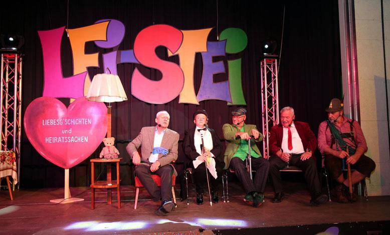 """""""Liebesg'schichten u. Heiratssachen"""" - Traudl Stopper, Helga Lusar, Fritz Linko, Albert Mussnig, Werner Graf"""