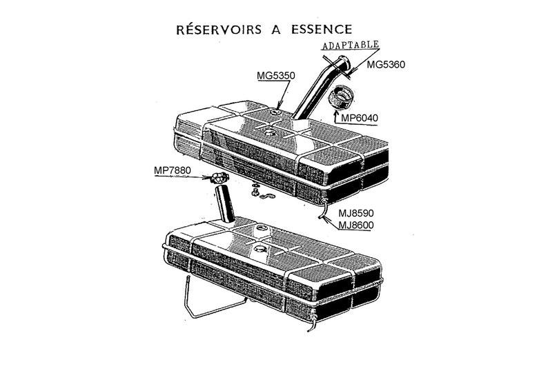 Réservoir à essence