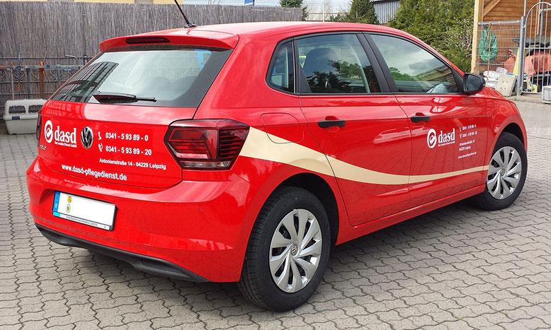 Folienbeschriftung VW Polo