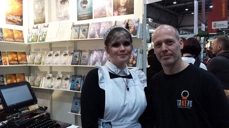 Takezo mit Autorin von Mondsklaven