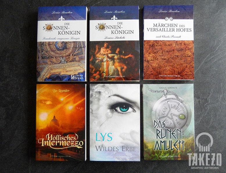 Verschiedene Buchcover Lysandra Books