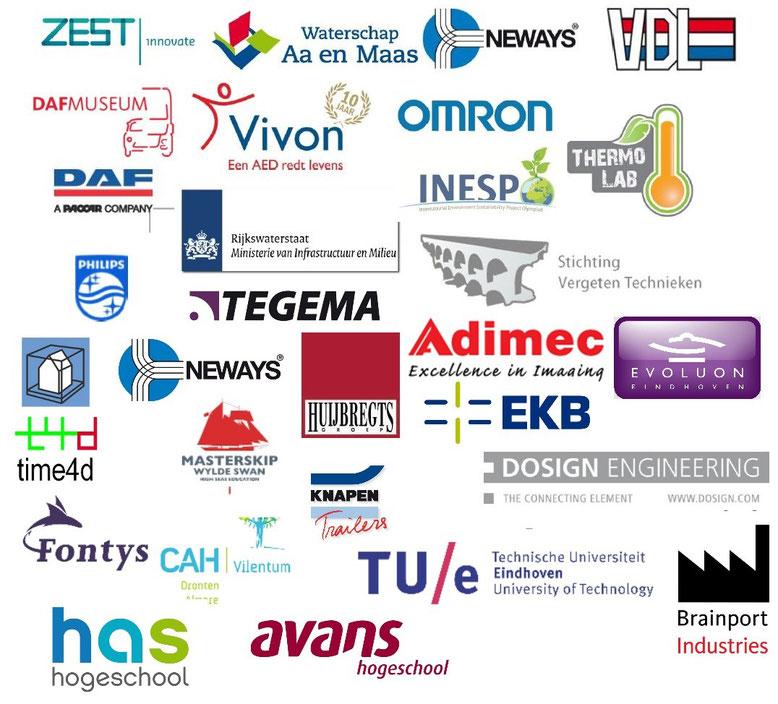 Bedrijven en instellingen op de Technasium Brabant-Oost Netwerkbijeenkomst 2014.