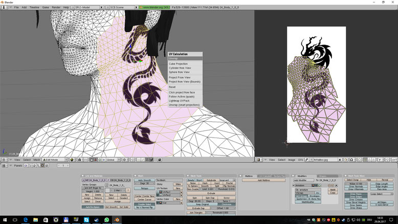 How to create seamless Tattoos between Meshes - XNAMall