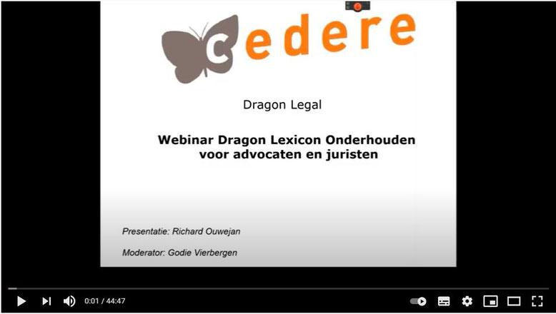Webinar Dragon lexicon onderhouden