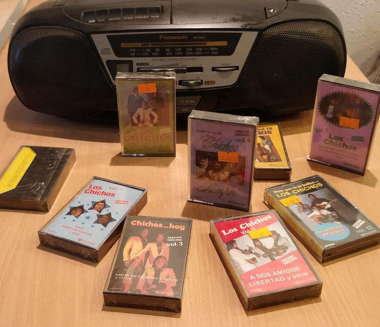 Casetes y Radio Cassette de la época dorada de Los Chichos