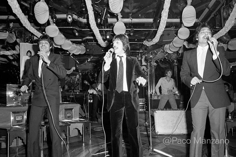 """Actuación en Madrid ·"""" Boíte de Siddharta"""" 1982 (de Paco Manzano)"""