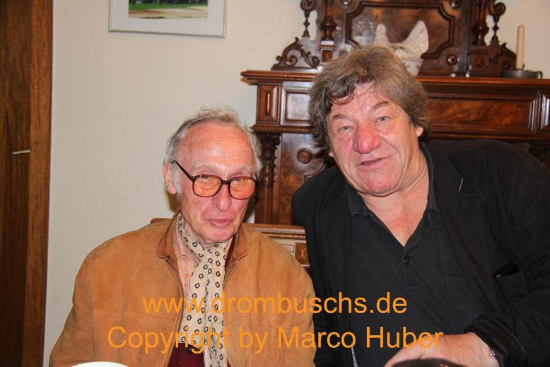 Hans Weicker (Hermann Eurich) und Michael Werlin beim Drombuschs-Fantreffen 2013