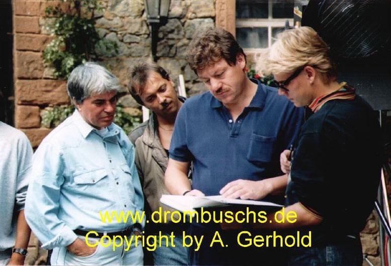 """Micheal Werlin 1989 bei den Dreharbeiten zur 4. Staffel in der """"Alten Mühle"""" in Lengfeld"""