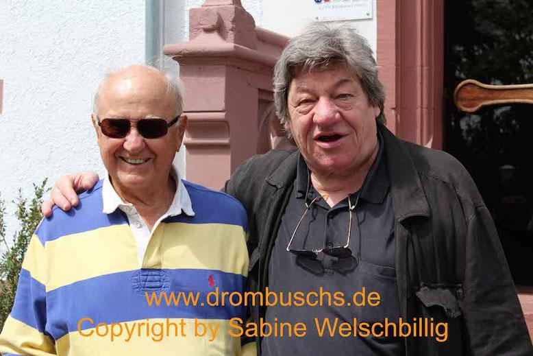 Heinz Gerhard Lück (Herbert Reibold) und Michael Werlin beim Drombuschs-Fantreffen 2014 in Darmstadt