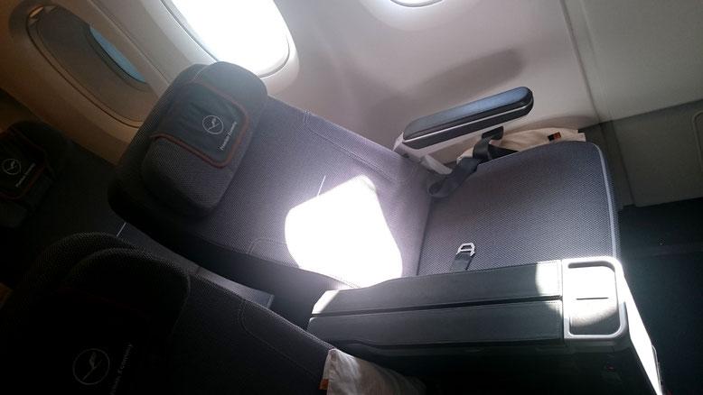 Lufthansa Premium Economy Rückenlehne