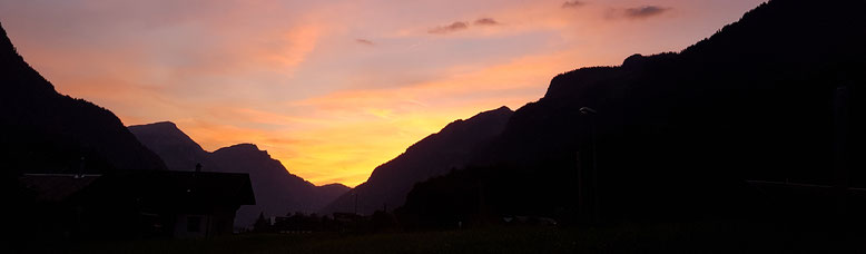 Burglauenen, Abendstimmung, Ferienwohnung, Jungfrauregion, Sulegg, Bällenhöchst, Abendrot, Feierabend
