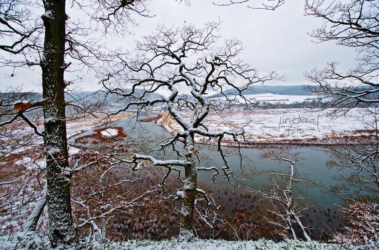Weitwinkelaufnahme Schnee. Foto: E. Knipschild