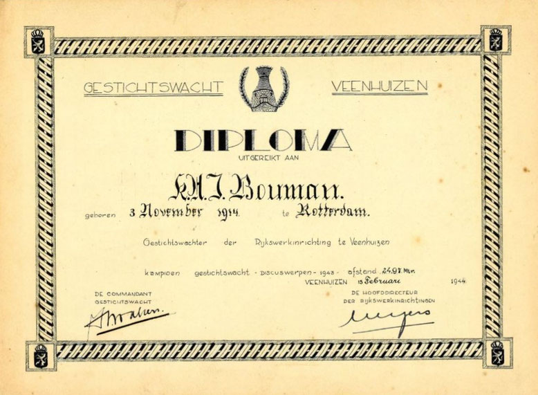 Diploma discuswerpen