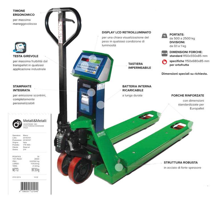 Transpallet di pestura e forche per carrelli Rovereto Trento