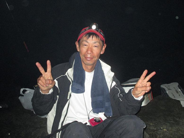 夜、北風強くて寒かった〜。寝袋持ってきて良かった