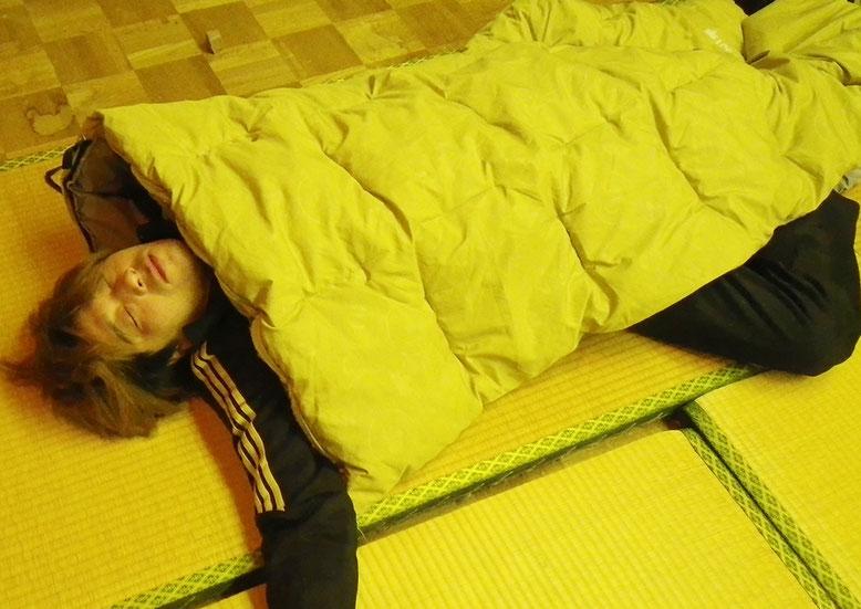 拓ちゃん爆睡中