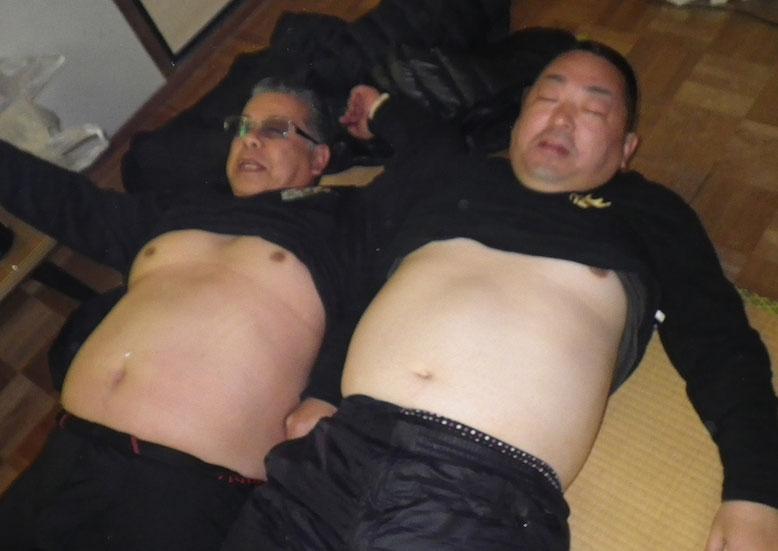 アニキとマグロ中(^_^;)