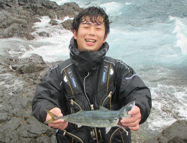 何匹か釣れたサバはこのサイズ