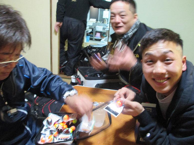 K謎人、恒例のウキくばり\(^o^)/