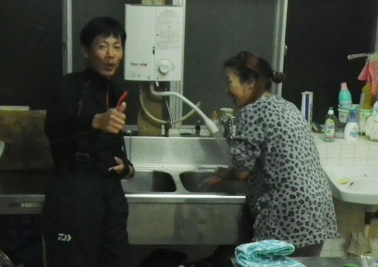 司Pが台所で二人でなんかしてました(*^^*)