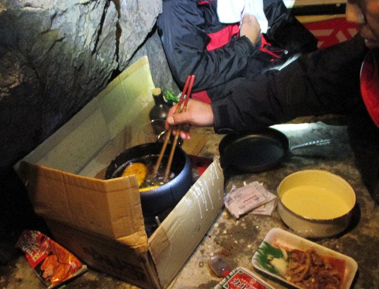 夜も、ある食材で軽く天ぷら
