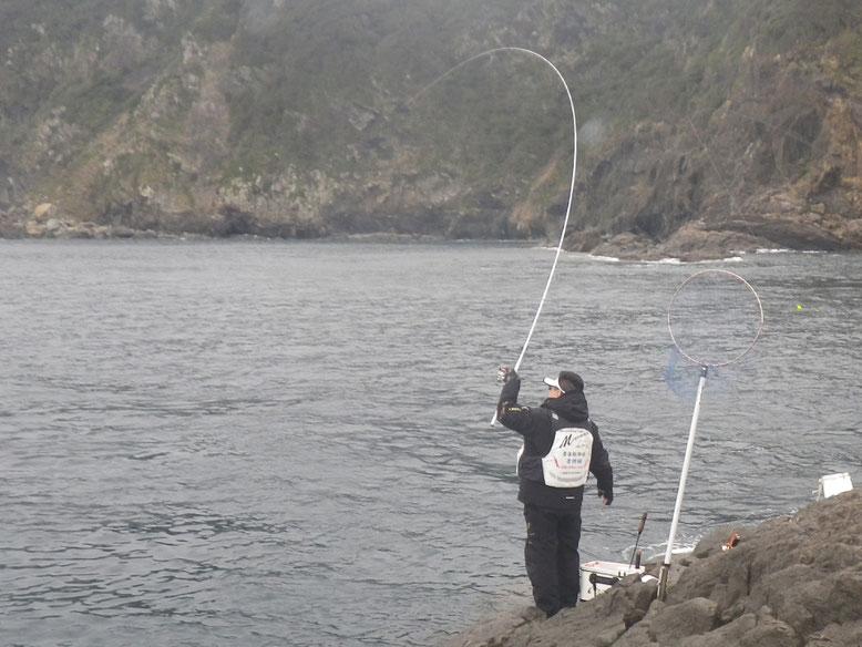 クロは釣れますが、なんせ小さい。