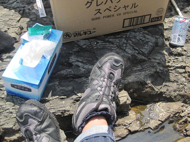 ちぃちゃんが何故か自分の足を撮ってたんでアップ(^o^)