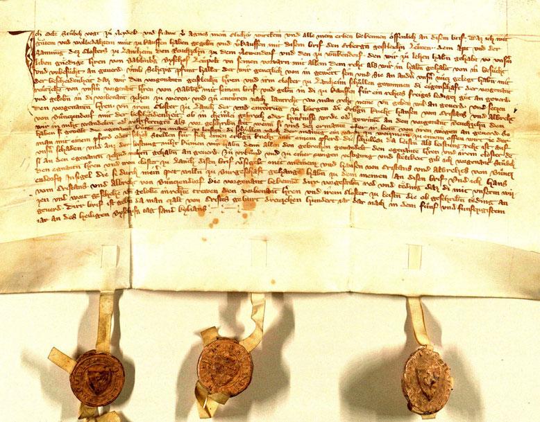 StABamberg, Langheim, 1355 VII 8