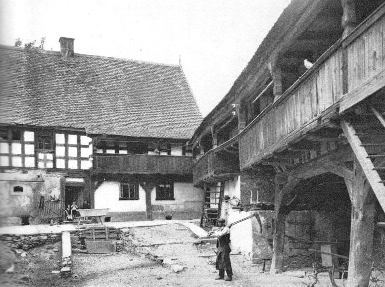 So ähnlich könnte der Moritzenhof  um 1650 ausgesehen haben.