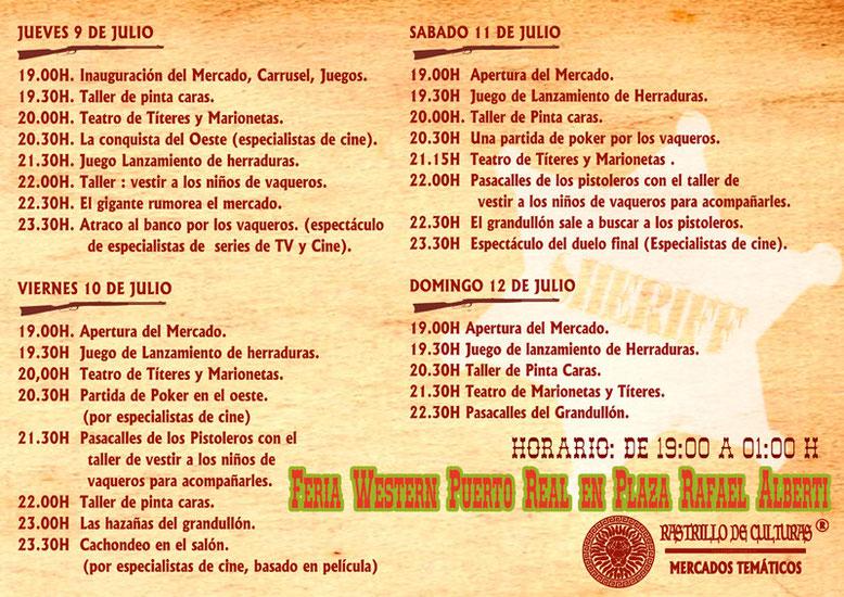 Programa del Mercado del Oeste en Puerto Real
