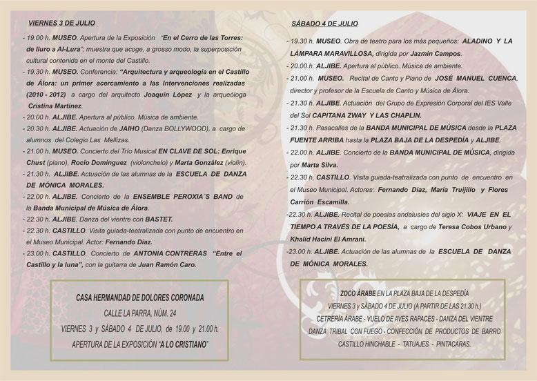 Programa del Zoco Árabe en Álora