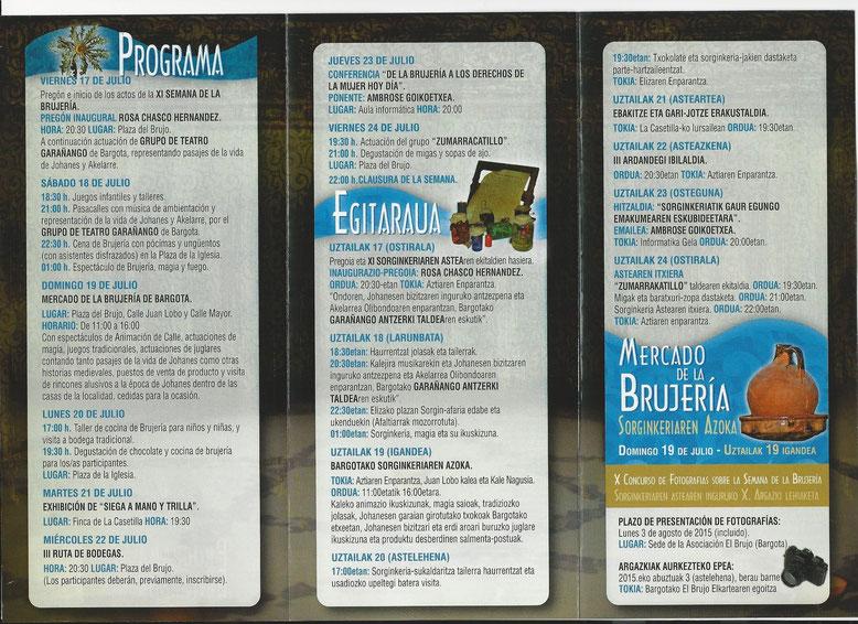 Programa de la Semana de la Brujería en Bargota