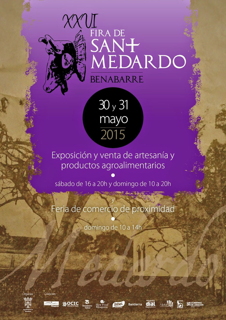 Cartel de la Fira de Sant Medardo en Benaberre
