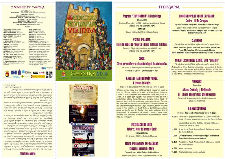 Programa de la Romaría Vikinga en Catoira