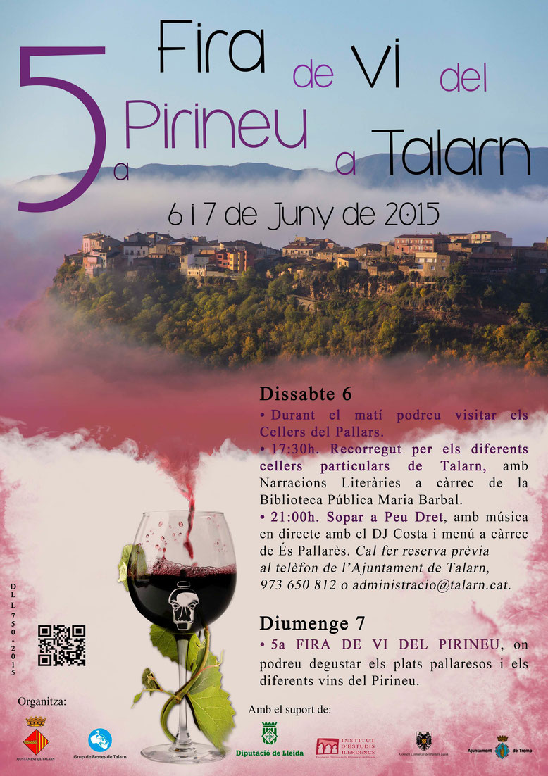 Cartel de la Fira del Vi en Talarn
