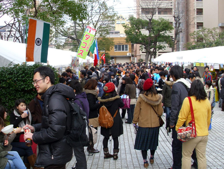 2012年2月 ワンワールドフェスティバル屋外会場風景