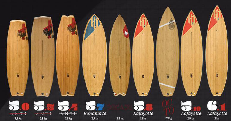 HB surfboards strapless
