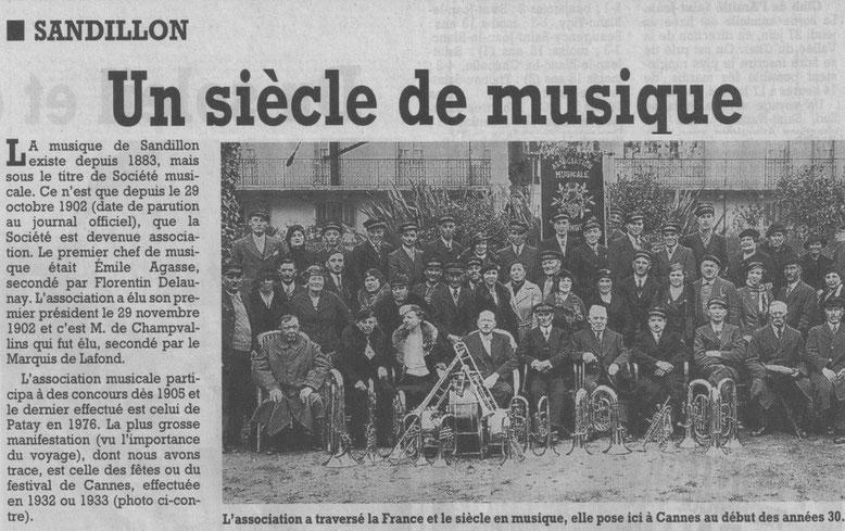 2002 - Les cent ans de l'AMS, Sandillon