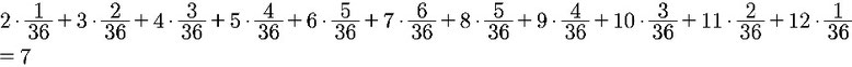 Beispiel zur Berechnung des Erwartungswertes