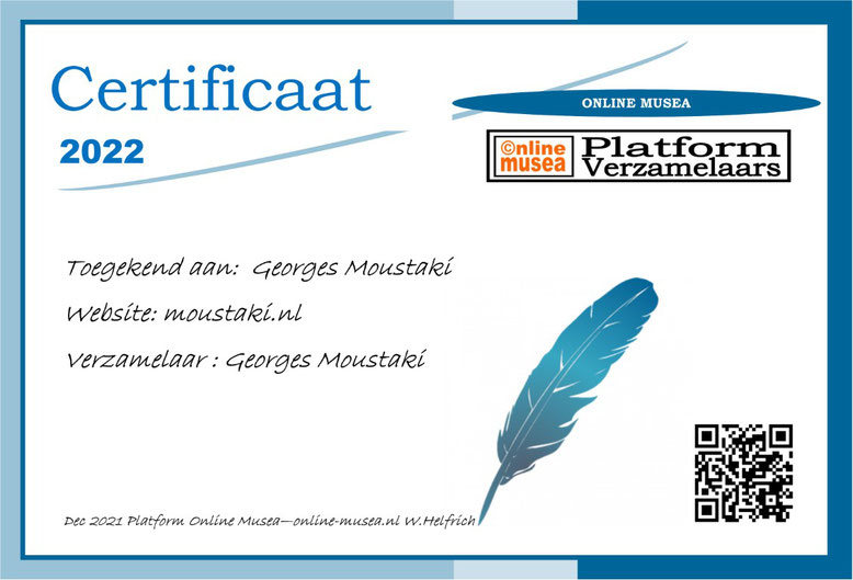 certificaat Georges Moustaki