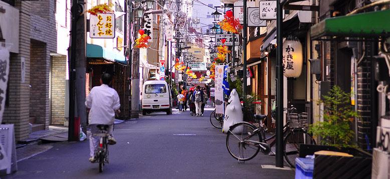 Fahrradtour durch Asakusa
