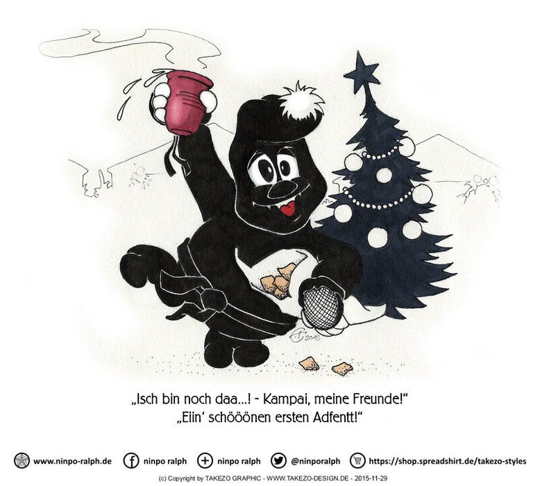 Vorglühen auf Weihnachtsmarkt