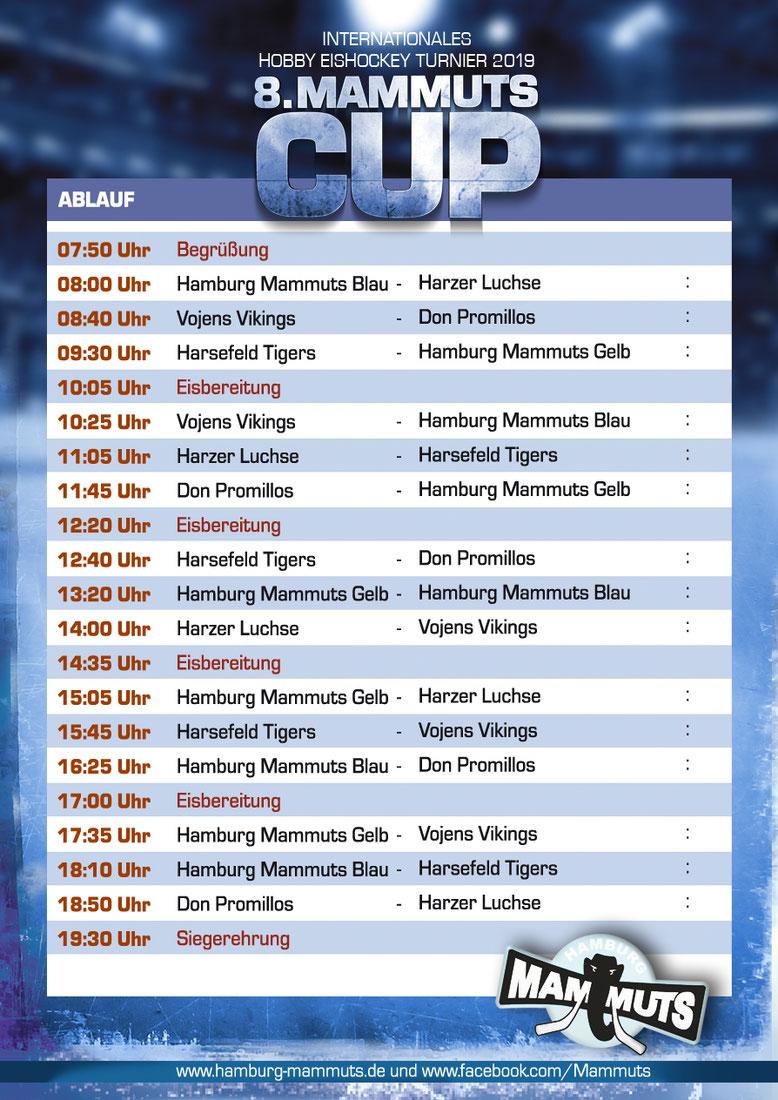 Spielplan 8.Mammut Cup