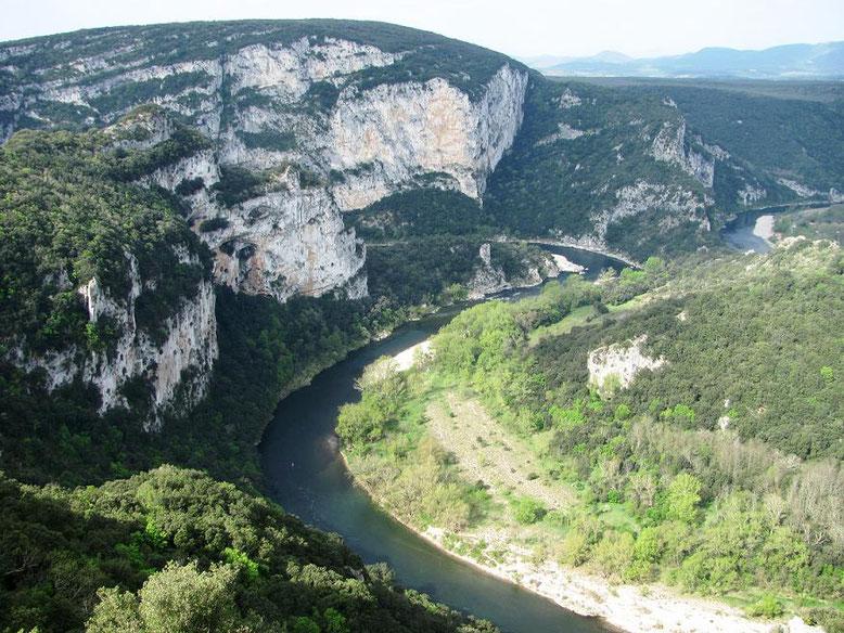 Les gorges vues de la route panoramique
