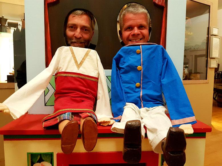 """Hier ist Spaß garantiert: Die neue Dauerausstellung """"Kaspers Welten"""" überrascht mit vielen Mitmach-Gelegenheiten im Mitteldeutschen Marionettentheatermuseum in Bad Liebenwerda."""