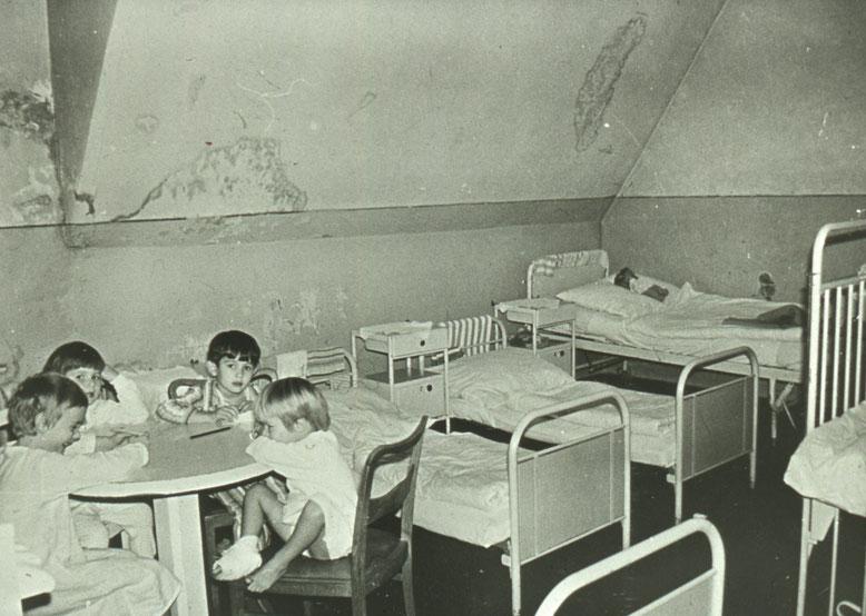 Eine Aufnahme von der Kinderstation ohne Datierung