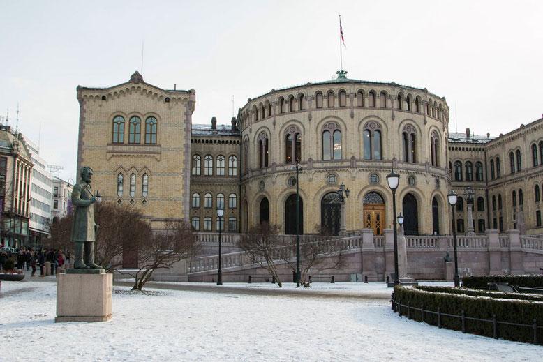 Das Parlamentsgebäude Stortinget