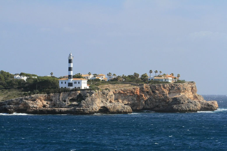 Lighthouse at Ponta de Ses Crest
